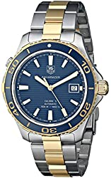 TAG Heuer Men's THWAK2120BB0835 Aqua Racer Analog Display Swiss Automatic Two Tone Watch