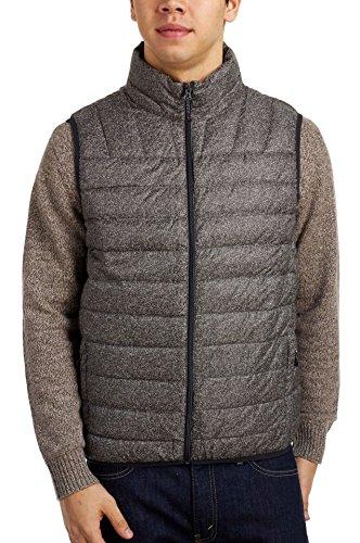 Hawke & Co Men's Brooklyner Ultra Lightweight Packable Down Vest, Black Tweed, Large (Hawke Co Vest)