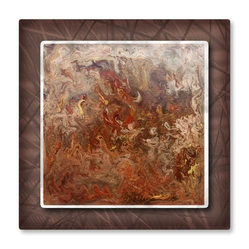 Metal Wall Art Sculpture Painting Contemporary Earthtone