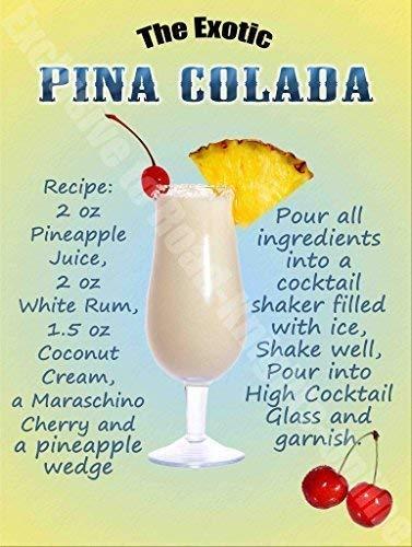 Piña Colada Bebidas Cóctel Receta, Vino Bar Pub Hotel 53 ...