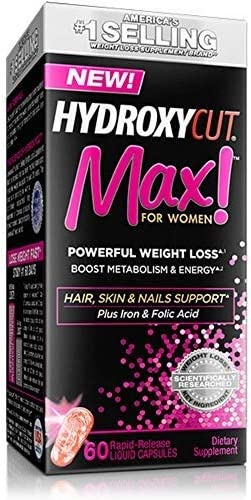Hydroxycut Max! For Women Powerful Weight Loss, 60 Liquid Capsule