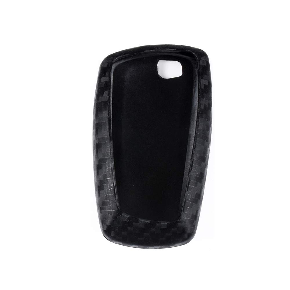 1797 Compatible Key Fob BMW Accessories 1 2 3 4 5 6 7 Series X1 X2 X3 X4 X5 X6 i3 i8 F30 G20 F10 F01 G11 F15 F16 Case Holder Cover Car Remote Chain Ring Shell Protector Women Men Carbon Fiber Black