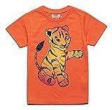 Peek-A-Zoo Toddler Short Sleeve Tshirt - Tiger Orange - 5T