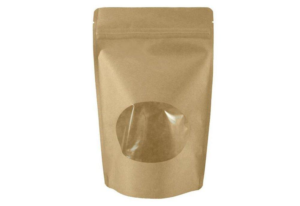 Amazon.com: 50pcs Kraft Paper Flat Base Hermetic Bag, Stand ...