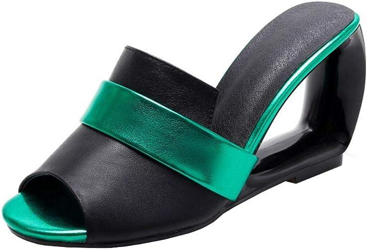 Melady Women Fashion Mules Heels Slip On Sandals
