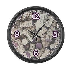 Large Wall Clock I love Wine Corks