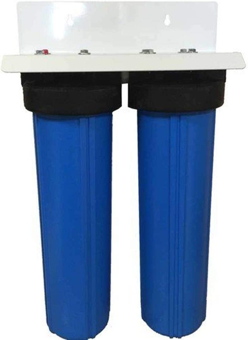 20 2 Stage Big Blue KDF-85 Whole House Complete Water Filter System
