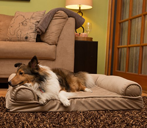 Best-Friends-by-Sheri-Orthopedic-Joint-Relief-Bolster-Sofa-Luxury-Dog-Bed-with-CertiPUR-High-Density-USA-Foam-for-Superior-Support-and-Cozy-Comfort--Removable-Zippered-Cover-Machine-Washable-Water-Res