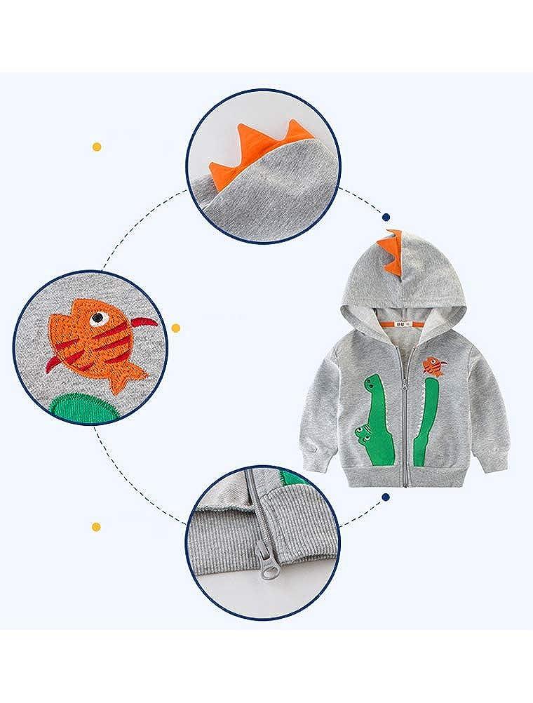 ARAUS Baby Jacke Jungen Herbst Kapuzenjacke Baumwolle Strickjacke Krokodil 2-9 Jahre alt