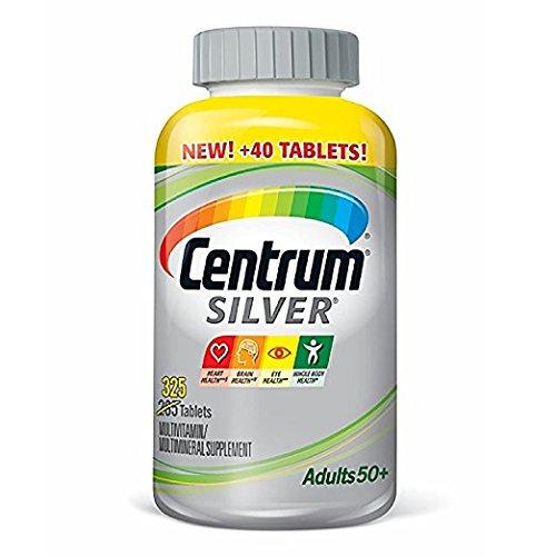 Centrum Silver Adult Multivitamin/Multimineral Supplement Tablet, Vitamin D3, Age 50+ (325 Count)
