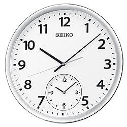 Seiko Dual Time Clock Silver-Tone Metallic Case