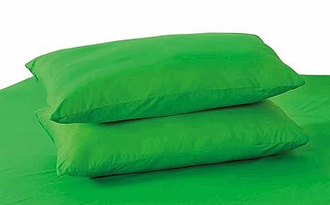 Tache 100% Cotton 2 Piece Dark Green Pillowcase Standard Size Queen