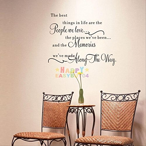 Uote Word Decal Vinyl DIY Home Room Decor Art Wall Stickers Bedroom Removable ~ Hipster Home