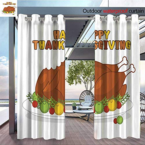 Exterior/Outside Curtains Happy-Thanksgiving--Roasted-turkey--fowl-on-plate--Baked-wildfowl-with-apples-and-cranberries--Traditional-festive-food--Symbol-Historic-national-holiday.jpg for Patio Ligh -