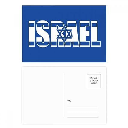 DIYthinker Gracias bandera de Israel Nombre del país ...