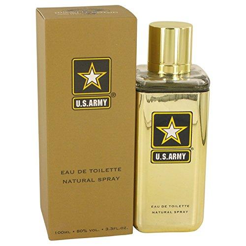 - New Brand Us Army Gold Eau de Toilette Spray for Men, 3.3 Ounce