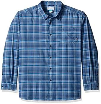 Columbia Men's Big Vapor Ridge III Long Sleeve Shirt, Steel Multi Plaid, 1X