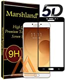 Marshland Samsung C9 Pro Tempered Glass, (Black) 5D Premium Quality, Full Glue Screen Protector, 9H Hardness, Bubble Free, Oleo Phobic Coating, Perfect fit, Tempered Glass for Galaxy C9 Pro