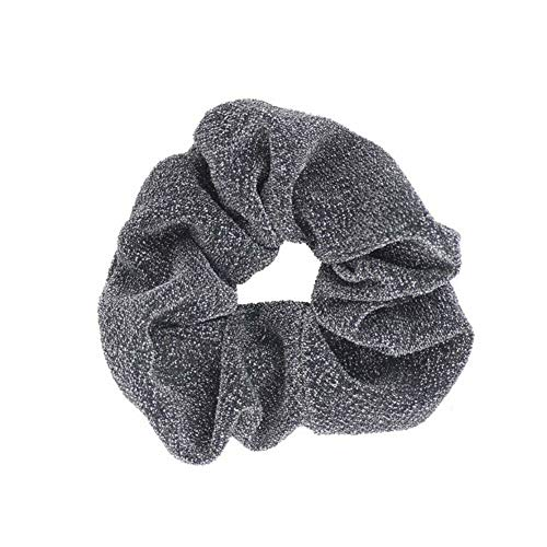Velvet Hair Rope Scrunchie Ponytail Holder Rubber Band Hair Accessories (Model - G-grey)