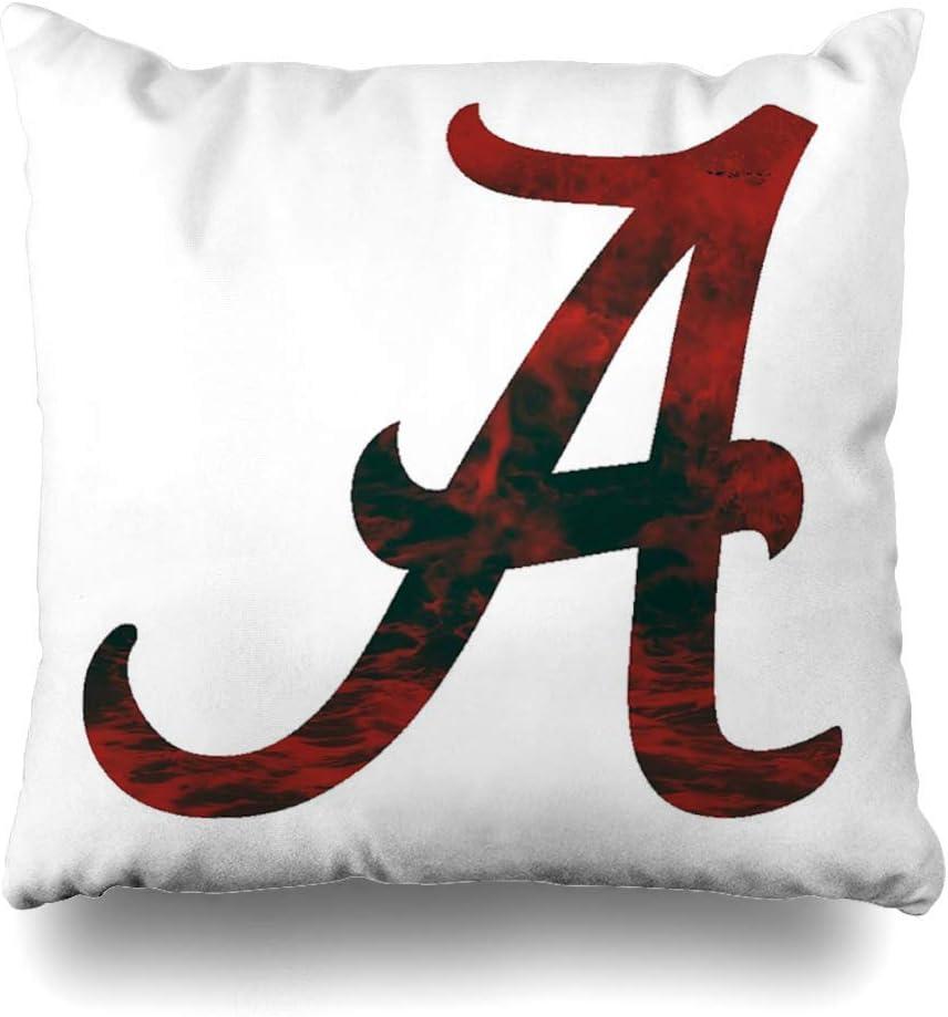 NBTJZT Square 18x18 Inches Alabama Crimson Tide Decorative Pillow Case Home Decor Pillowcase