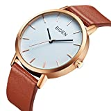 ALPS-Womens-Mens-Unisex-Waterproof-Simple-Casual-Analog-Quartz-Brown-Leather-Band-Dress-Wrist-Watch