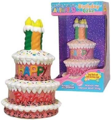 Pleasant Amazon Com Dancing Singing Animated Birthday Cake Cake Stands Personalised Birthday Cards Veneteletsinfo