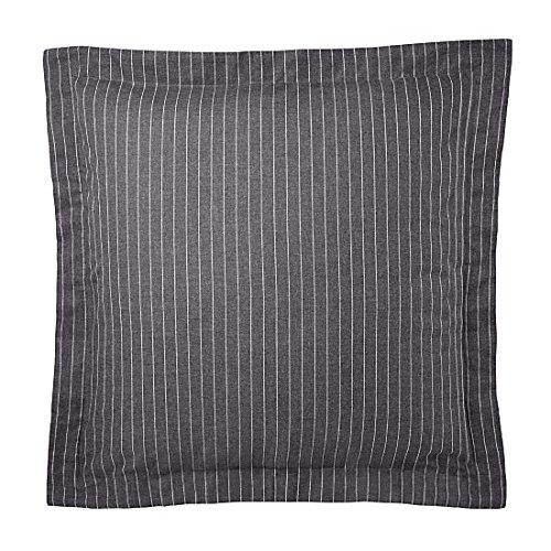 Raph Lauren Grey Haberdashery Dark Grey Pinstripe European Euro Pillow Sham