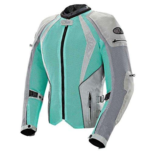 Joe Rocket Cleo Elite Women's Mesh Motorcycle Jacket (Mint/Silver, (Womens Elite Motorcycle)