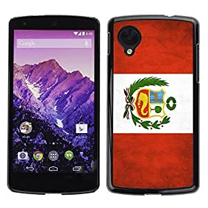 Shell-Star ( National Flag Series-Peru ) Snap On Hard Protective Case For LG Google NEXUS 5 / E980