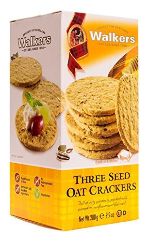 Walkers Shortbread Three Seed Oat Crackers, 9.9 (Pumpkin Shortbread Cookies)