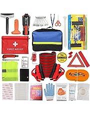 ZHSX Auto Emergency Kit, Auto Safety Kit voor Voertuigen Boten met Premium Opbergtas