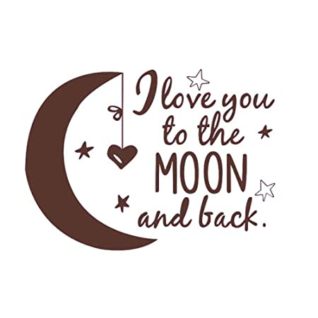 ZWXDMY Letras Pegatinas Pared,Amor Amor A La Luna Y Volver ...