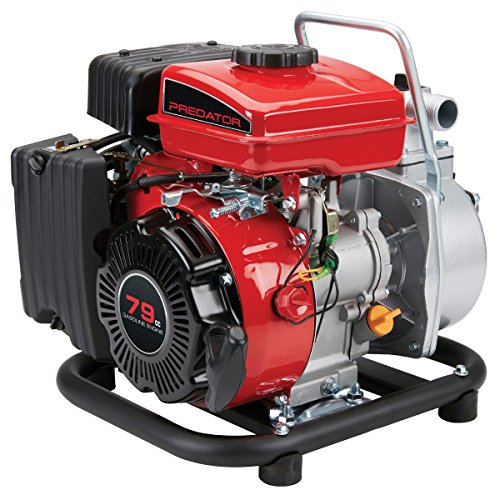 1 in. Intake/Discharge 79cc Gasoline Engine Water Pump - 35 GPM; Maximum head lift: 65 ft.