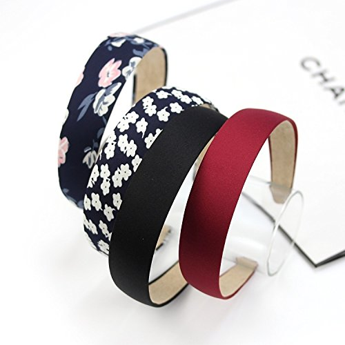 Korea retro temperament broken flower headband flannel cloth hair bands broadside solid color hair accessories hairpin for women girl (Flannel Retro Flowers)