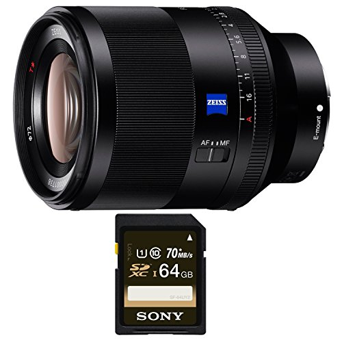 Sony SEL50F14Z Planar T FE 50mm f/1.4 ZA Lens (SD Card Bundle) by Sony