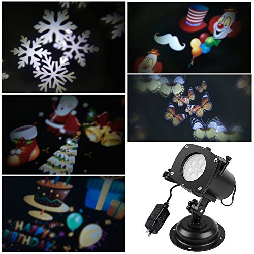12 Slide Holiday Light Projector
