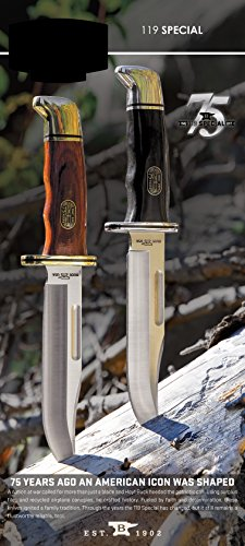 Buck Knives 0119 Special Fixed Blade Knife with Leather Sheath 75th Anniversary Edition