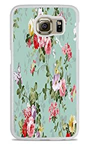 Vintage Roses Floral White Hardshell Case for Samsung Galaxy S6 EDGE