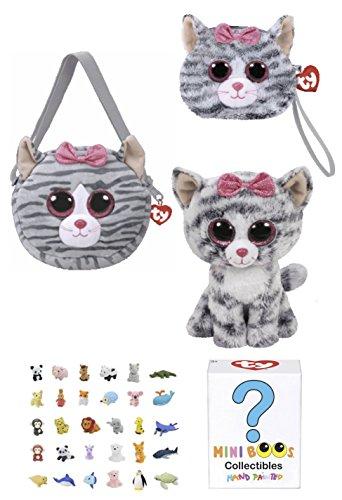 Animal TY Beanie Boos Babies Gift Set - Kiki Cat Purse f88297f250d0