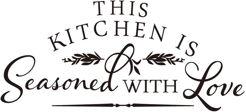 This Kitchen is Seasoned with Love Vinyl Wall Decal Art Letters Room Décor