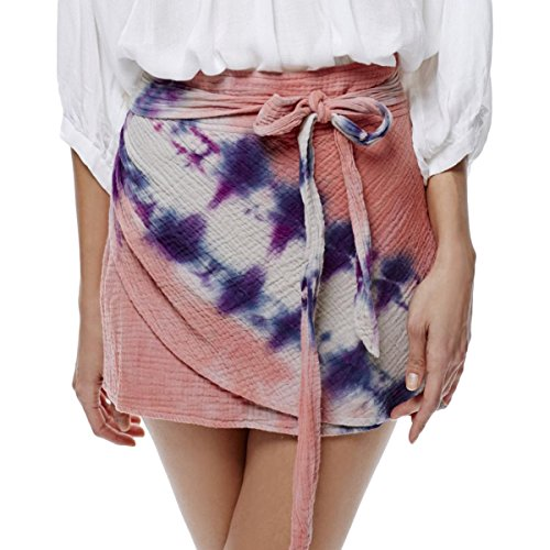 Free People Womens Tie-Dye Quilted A-Line Skirt Pink ()