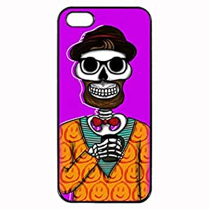 HIPSTER GEEK SWANK SKULLS Plastic Rubber Sillicone Customized iPhone 5 Case, iPhone 5S Case Cover, Protection Quique Cover, Perfect fit, Show your own personalized phone Case for iphone 5 & iphone 5S by icecream design
