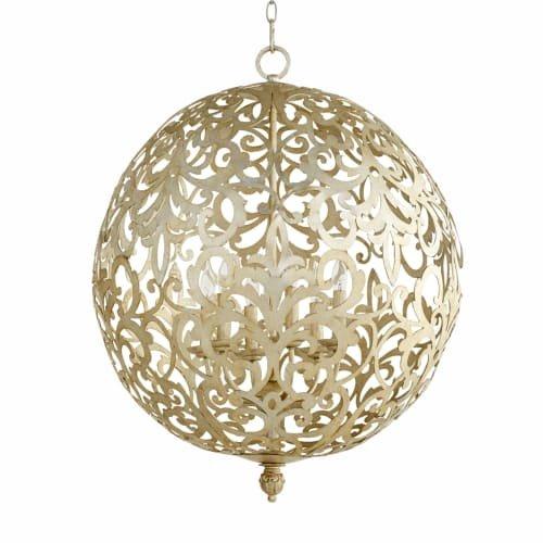 Quorum Le Monde 6 Light Chandelier in Aged Silver ()