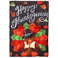 HAKDAY Turkey Garden Flag for Thanksgiving Day, 12 x 18 inches