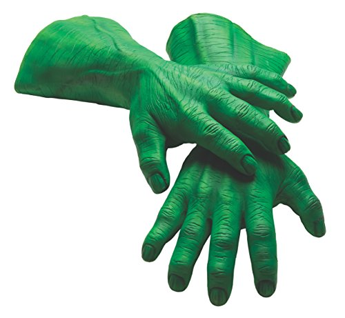 Incredible Hulk Costumes For Men (Rubie's Costume Men's Marvel Universe Adult Latex Hulk Hands, Multi, One Size)