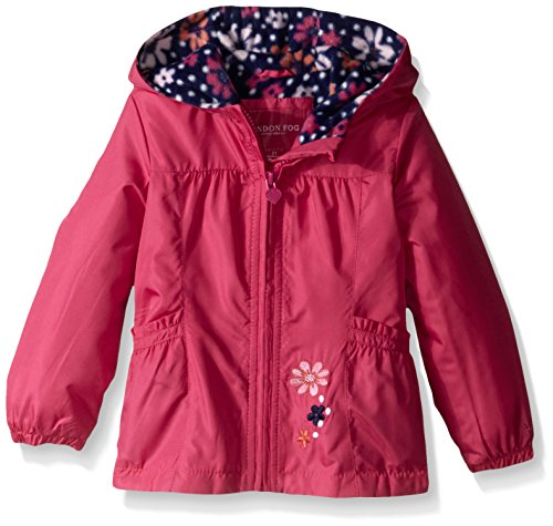 (London Fog Girls' Toddler Perfect Fleece Lined Jacket, Fuchsia,)
