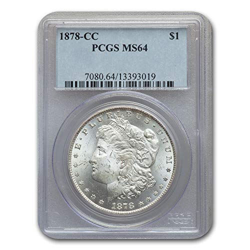 (1878 CC Morgan Dollar MS-64 PCGS $1 MS-64 PCGS)