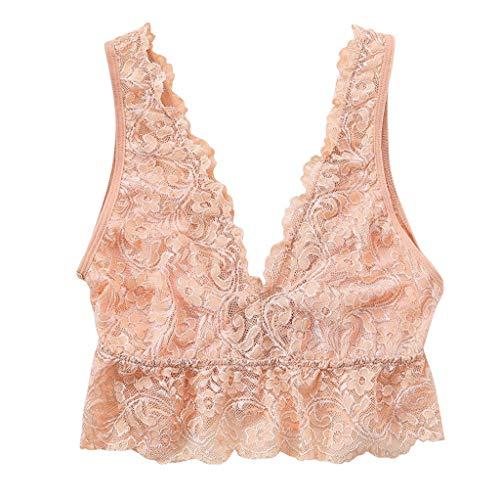 Sexy Intimates for Women,HOSOME New Sexy Women Bra Lace Deep V Bralette Underwear Lingerie Casual Sleepwear Beige