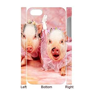 Hard Shell Case Of Pig Customized Bumper Plastic case For Iphone 4/4s