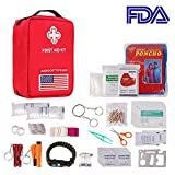 AIRSOFTPEAK First Aid Kit Upgraded Emergency Kit Supplies First Aid Essentials Kits Molle First Aid Bag for Car, Home, Survival, Camping, Hiking, Travel